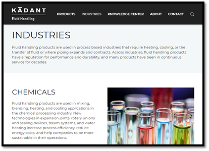 Industries page
