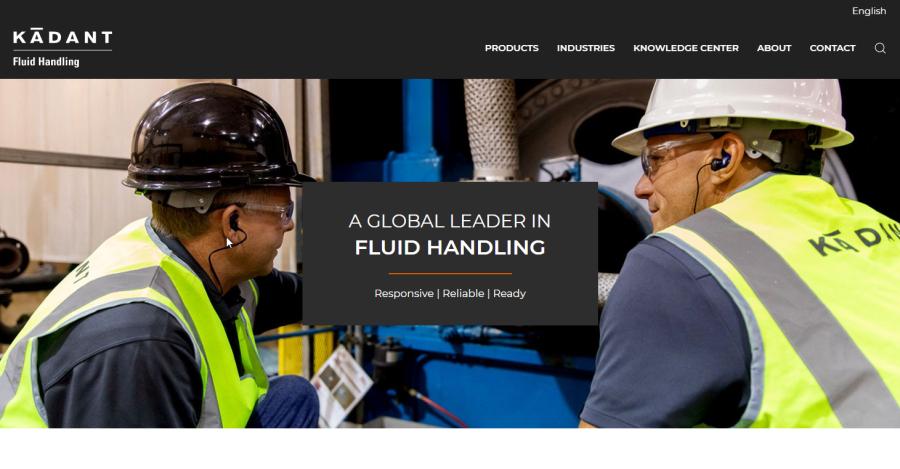 Kadant Johnson's New Website Focuses on Fluid Handling Customers